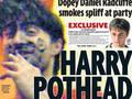 Daniel Radcliffe fuma spinello, il Daily Mirror lo pubblica