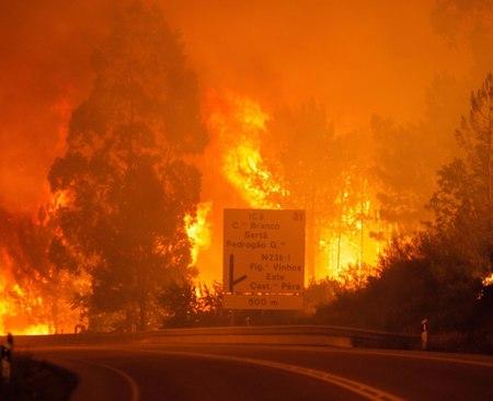 Uragano Ophelia: incendi in Portogallo e Spagna e allerta in Irlanda