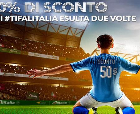 Offerte voli: sconto 50% Alitalia se la Nazionale di calcio vince Euro 2016