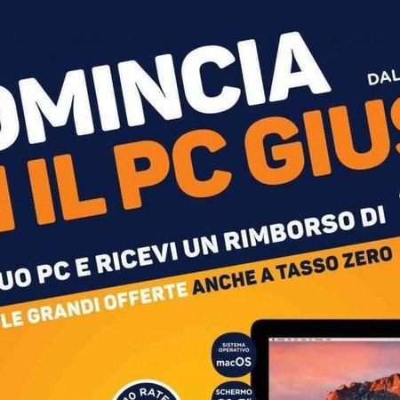 """Volantino Euronics Settembre 2017: """"Ricomincia con il pc giusto!"""""""